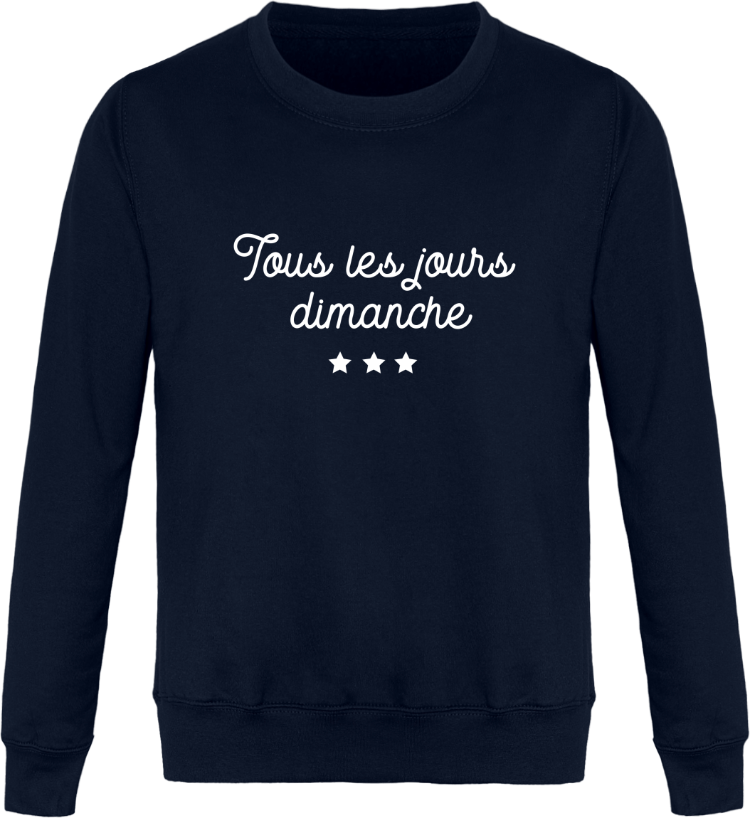Sweat Col Rond Unisexe Tous les jours Dimanche – New French Navy – Face
