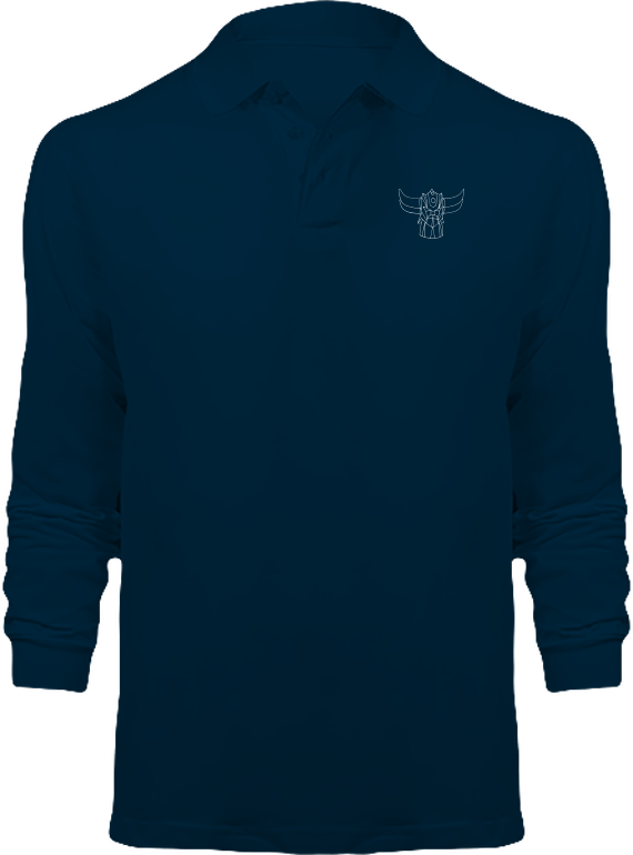 Polo Goldorak Monochrome Manches Longues – Navy – Plexus