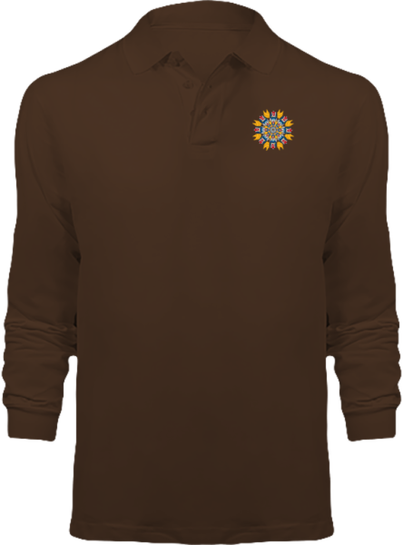 Polo Mandala Goldorak Manches Longues – Chocolate