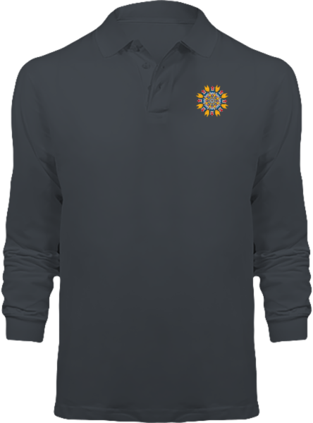 Polo Mandala Goldorak Manches Longues – Dark Grey