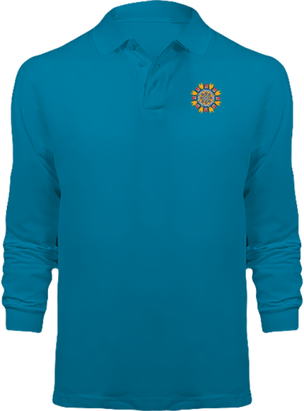 Polo Mandala Goldorak Manches Longues – Tropical Blue