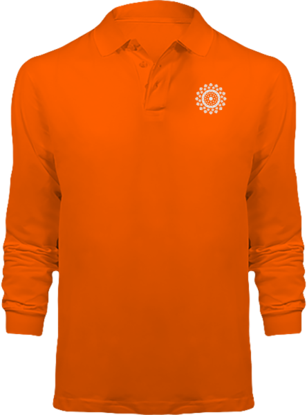 Polo Mandala Manches Longues – Orange