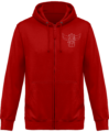 Sweat Shirt Zippé Capuche Goldorak Mono – Fire Red – Face