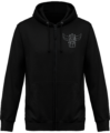 Sweat Shirt Zippé Capuche Goldorak Mono – Jet Black – Face
