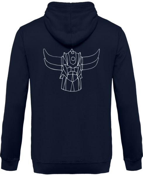 Sweat Shirt Zippé Capuche Goldorak Mono – New French Navy – Dos