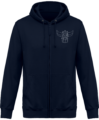 Sweat Shirt Zippé Capuche Goldorak Mono – New French Navy – Face