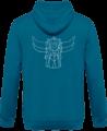 Sweat Shirt Zippé Capuche Goldorak Mono – Sapphire Blue – Dos
