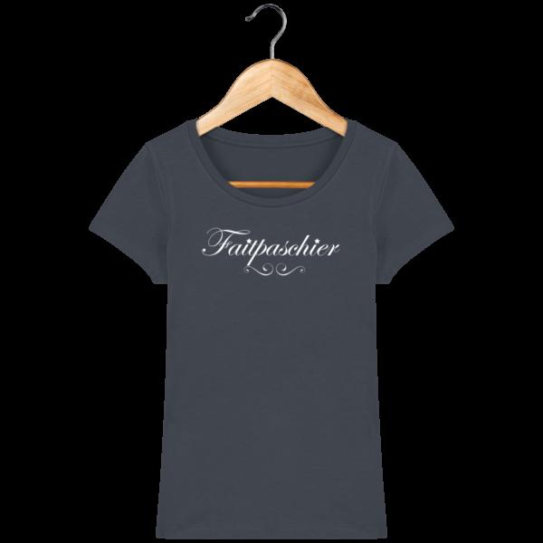 T-Shirt Femme Faitpaschier India Ink Grey