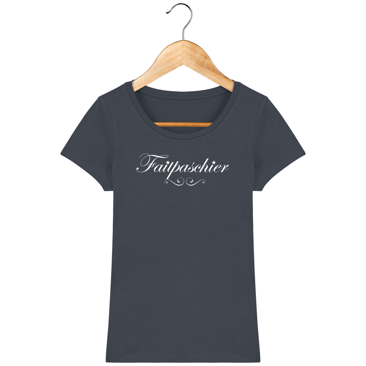 T-Shirt Femme Faitpaschier – India Ink Grey – Face