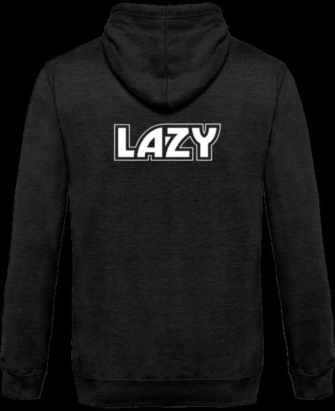 Veste Zippé Capuche Lazy – Charcoal – Dos