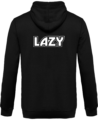 Veste Zippé Capuche Lazy – Jet Black – Dos