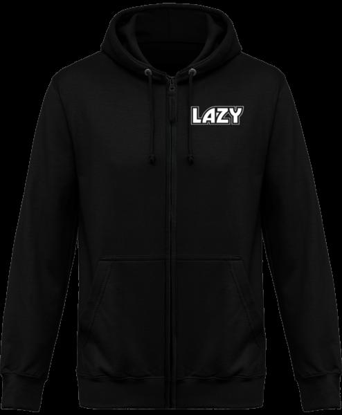 Veste Zippé Capuche Lazy – Jet Black – Face