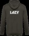 Veste Zippé Capuche Lazy – Steel Grey – Dos