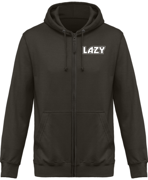 Veste Zippé Capuche Lazy – Steel Grey – Face