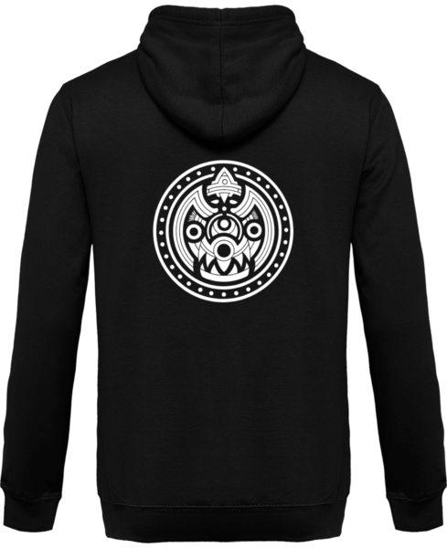 Veste Zippé Capuche Tribal Mask – Jet Black – Dos