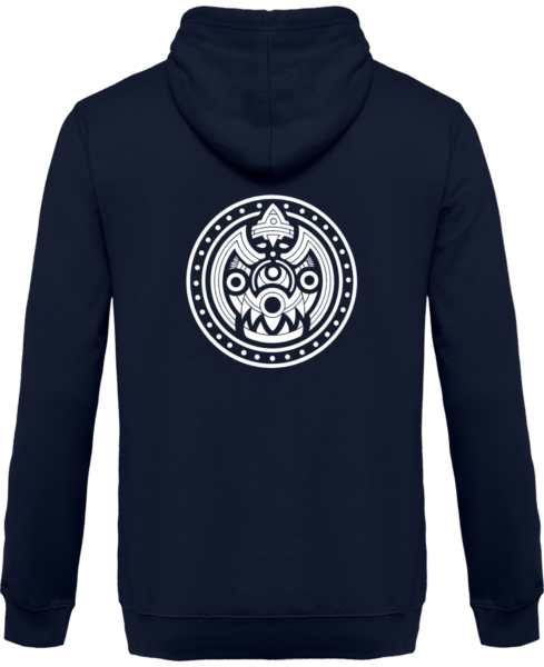Veste Zippé Capuche Tribal Mask – New French Navy – Dos