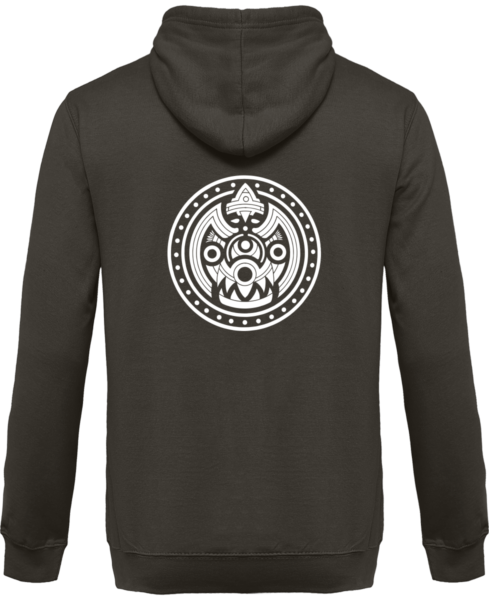 Veste Zippé Capuche Tribal Mask – Steel Grey – Dos