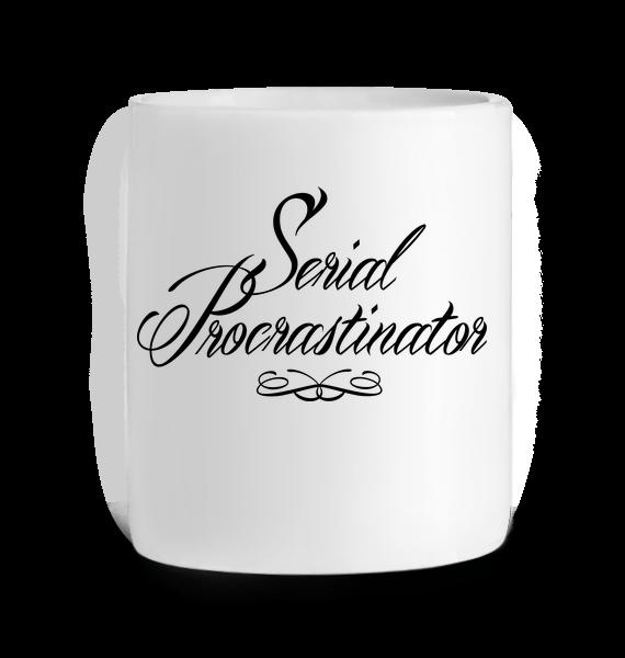 Mug en Céramique Serial Procrastinator – BLANC – Face