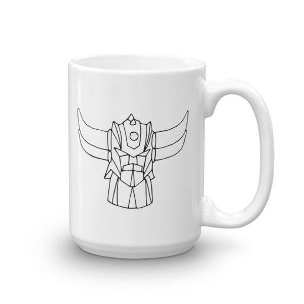 Mug hautGoldorak Noir Cote2