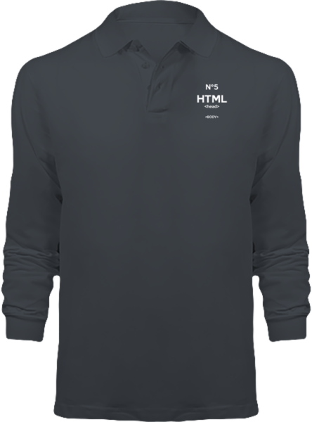Polo HTML5 Manches Longues – Dark Grey