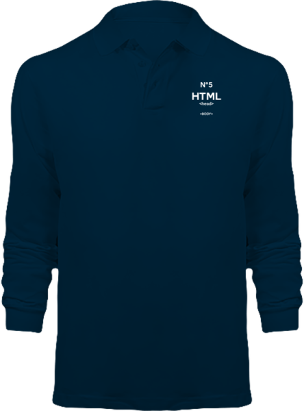 Polo HTML5 Manches Longues – Navy
