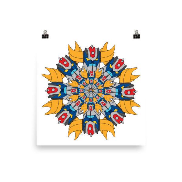 Poster full Mandala Goldo 1