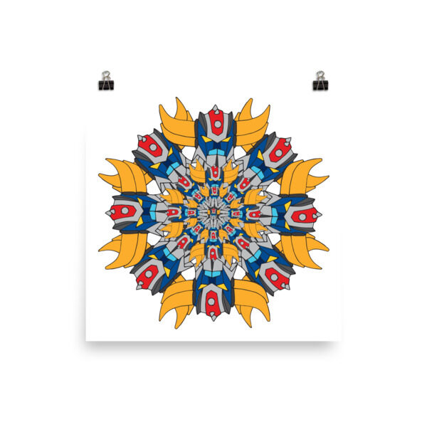 Poster full Mandala Goldo 3