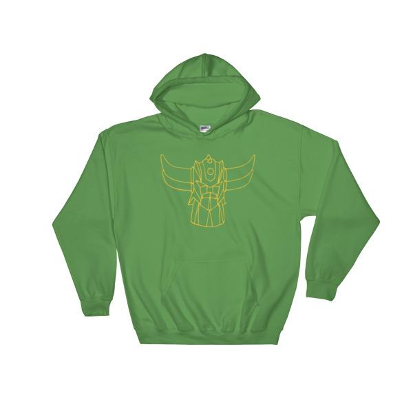 Sweat capuche Goldo vert