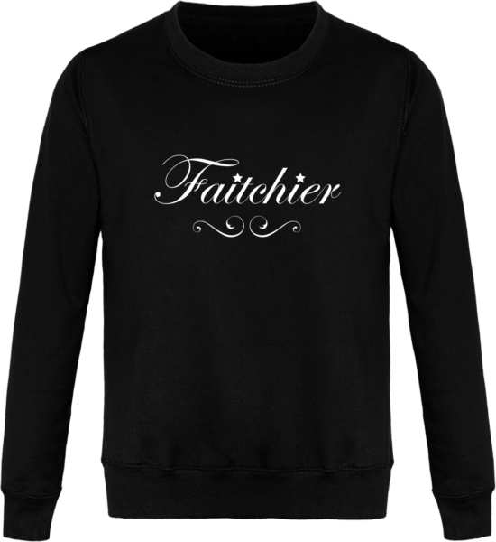 Sweat Col Rond Unisexe Faitchier Jet Black
