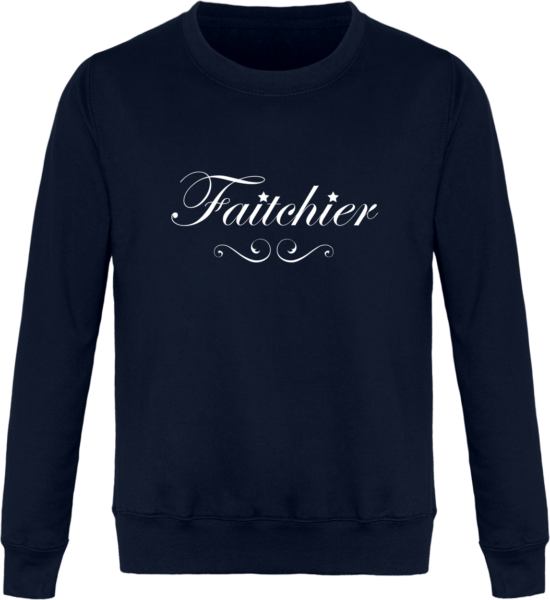 Sweat Col Rond Unisexe Faitchier - New French Navy - Face Avant