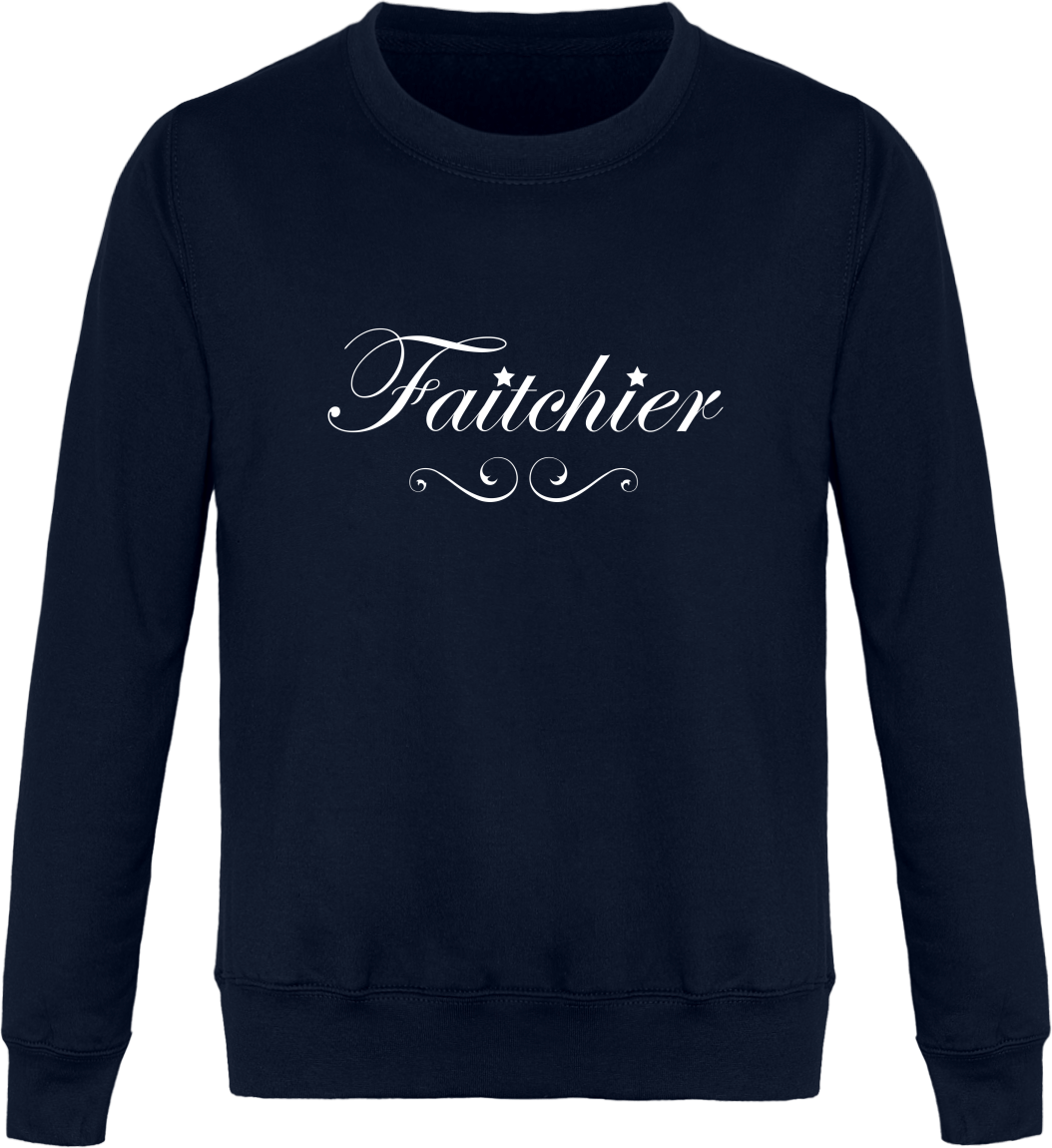 Sweat Col Rond Unisexe Faitchier – New French Navy – Face