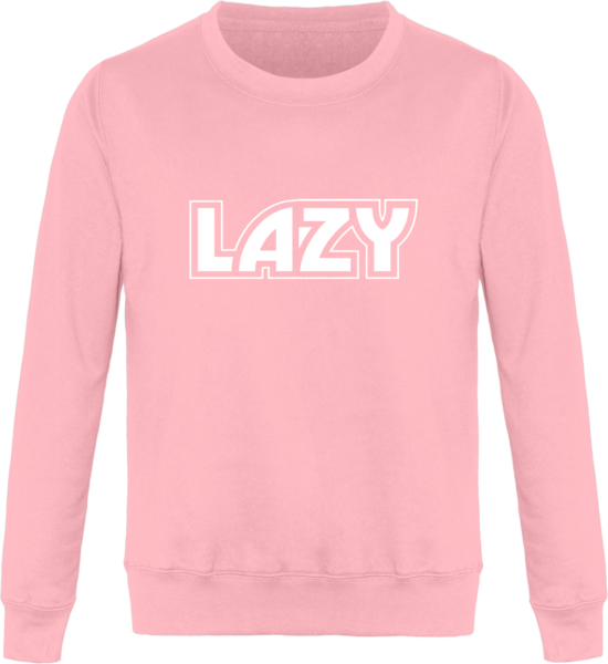 Sweat Col Rond Unisexe LAZY Baby Pink