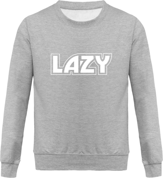 Sweat Col Rond Unisexe LAZY Heather Grey