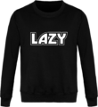 Sweat Col Rond Unisexe LAZY Jet Black