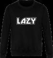 Sweat Col Rond Unisexe LAZY - Jet Black - Face avant