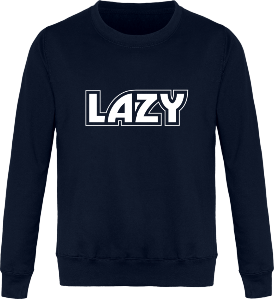 Sweat Col Rond Unisexe LAZY New French Navy