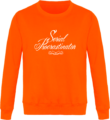 Sweat Col Rond Unisexe Serial Procrastinator Orange Crush