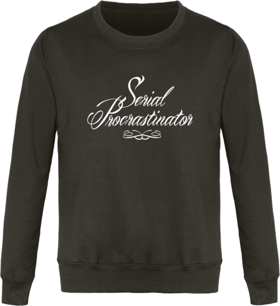 Sweat Col Rond Unisexe Serial Procrastinator Steel Grey