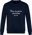 Sweat Col Rond Unisexe Tous les jours Dimanche New French Navy