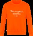 Sweat Col Rond Unisexe Tous les jours Dimanche Orange Crush
