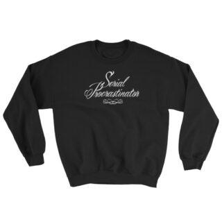 Sweat shirt Serial Procratinator noir