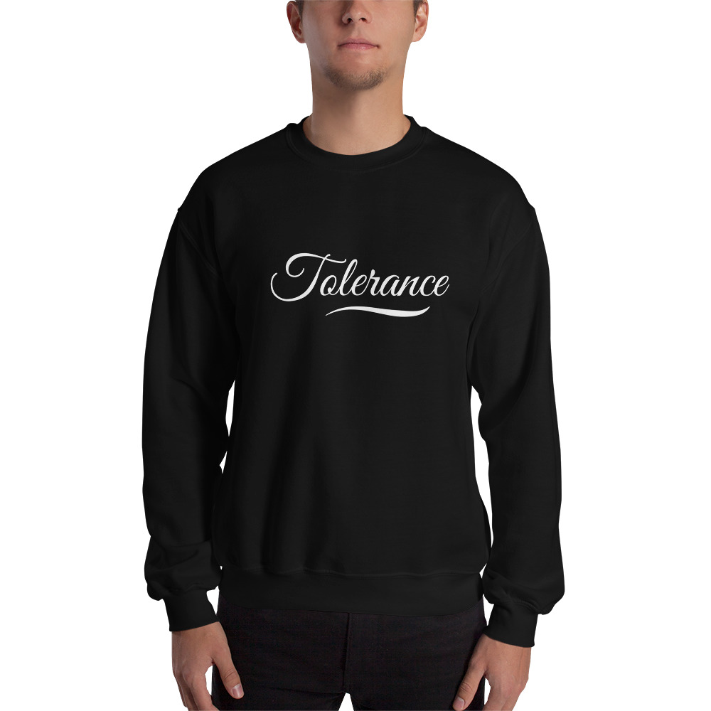 Sweatshirt Tolerance Noir