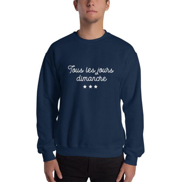 Sweatshirt Tous les jours Dimanche Bleu
