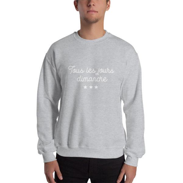 Sweatshirt Tous les jours Dimanche Gris