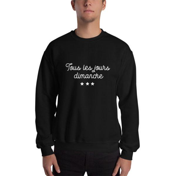 Sweatshirt Tous les jours Dimanche Noir