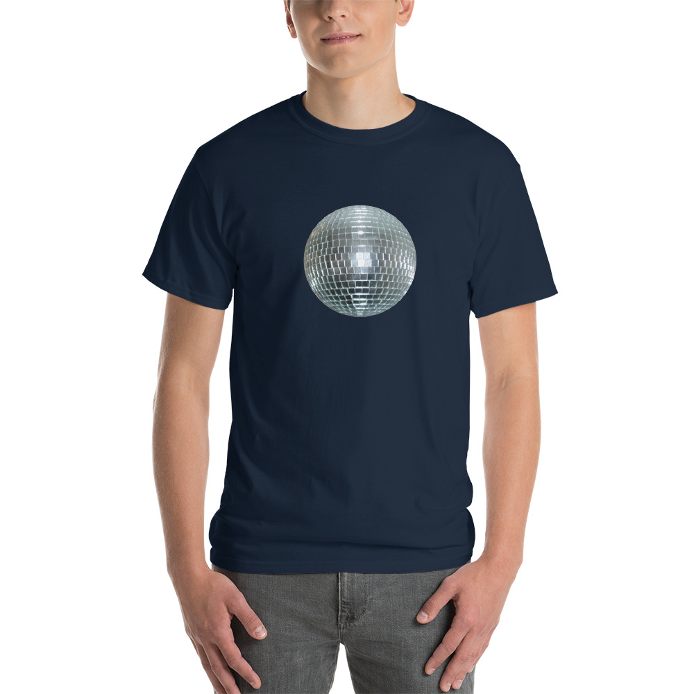 T-Shirt Disco Ball  Bleu Marine
