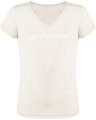 T-shirt Femme Col V Superlooloote C20 – Cream Heather Grey