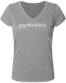 T-shirt Femme Col V Superlooloote C20 – Heather Grey