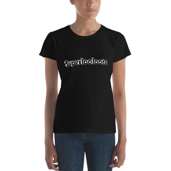T-shirt femme superlooloote noir