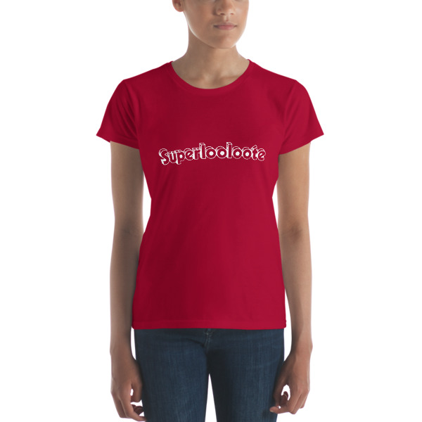 T-shirt femme superlooloote rouge